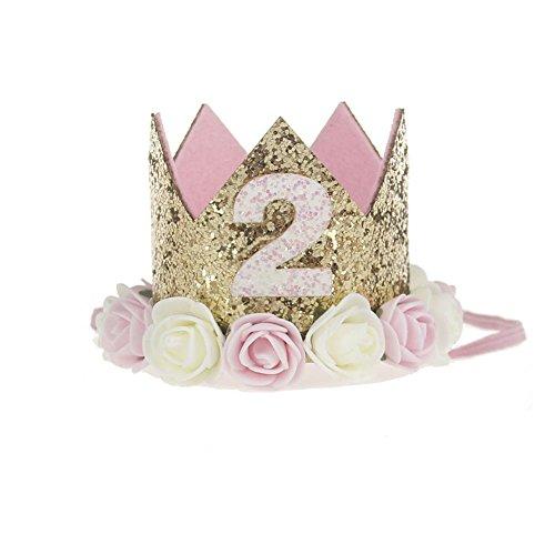 Kicode Haar-Band-Krone Rose Rand Baby-Nette Schließe Schöne Partei Foto Leistung Kopfbedeckung Zubehör