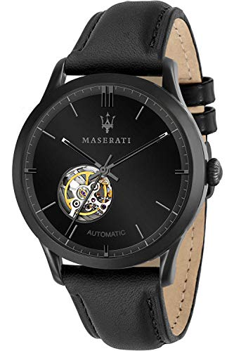 Maserati ricordo Mens Analogue Automatic Watch with Leather Bracelet R8821133001