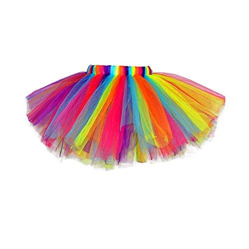 hen Prinzessin Rainbow Tüll Kleid Rock für Tanz Party im Freien ((3-6 Jahre)) (Süßeste Halloween Kostüme Für Babys)