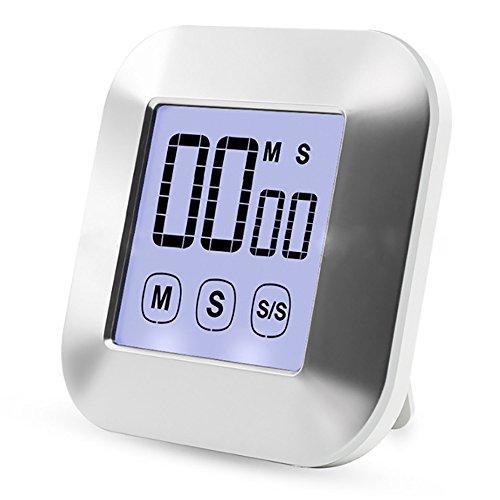 Yxaomite Digitaler Küchentimer Magnetisch, Kurzzeitmesser Küche Zeitschaltuhr 24H Countdown Timer...