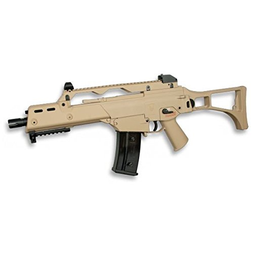 Golden Eagle Subfusil O Metralleta G36c De Bolas Airsoft Eléctrico Color Tan