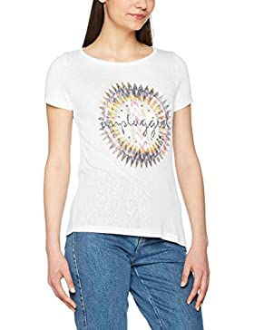 Only Onlpiper S/S Unplugged/Life Top Box ESS, Camiseta para Mujer