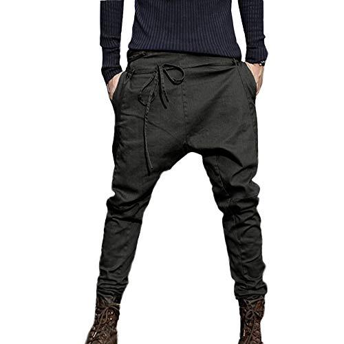 Pantalones Largos para Hombre,Hombres Moda otoño Joggings Patchwork Casual Lazo pantalón Pantalones de Trabajo