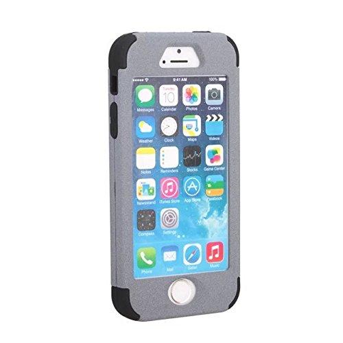 IPhone 5S/SE-Fall, Lantier 3 in 1 Heavy Duty hybrider Fall Stoß- TUFF Schlag harter Silikon Gel Cover-Fashion Quicksand Angel Eyes Schützen für Apple iPhone 5S/SE [Hellblau/Schwarz] 5S/SE Grey/Black