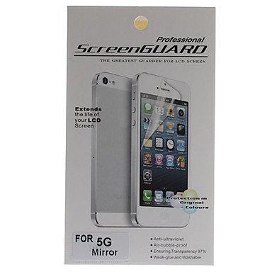 zzll151 Protective Mirror Screen Protector mit Reinigungstuch für iPhone 5 KKKAOOL