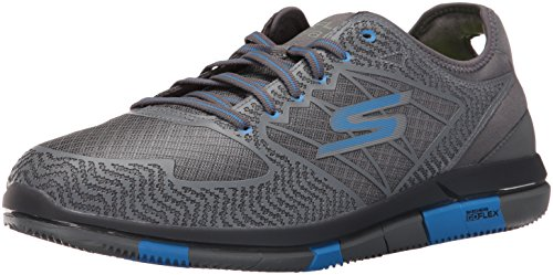 Skechers Men's Go Walk Flex Charcoal/Blue Nordic Walking Shoes - 11 UK/India (46 EU)(12 US)(54011)
