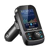 ALRY Transmetteur FM Bluetooth, Adaptateur Voiture Bluetooth 1.8Inch, Charge Rapide 3.1A, Clé USB, Carte Microsd, Kit Mains Libres