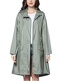 Millenniums Femme Manteau Imperméable Cape Veste De Pluie à Capuche Point  Fermeture éclair Pliable Coupe-Vent Jacket à Manches… 60366a1bde9