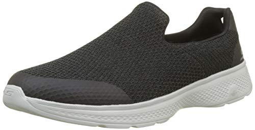 Skechers Go Walk 4-Alliance, Zapatillas sin Cordones para Hombre, Negro (Black Grey Bkgy), 45 EU