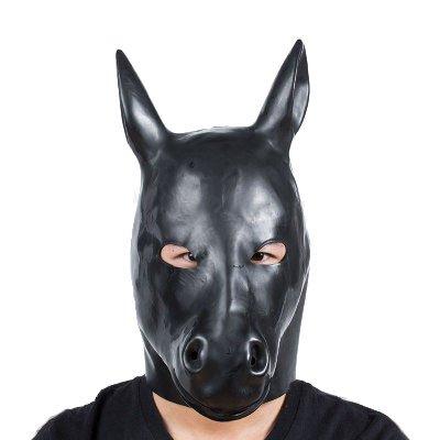 Bantie Leder Monster Fetisch Maske Sexy Kopf