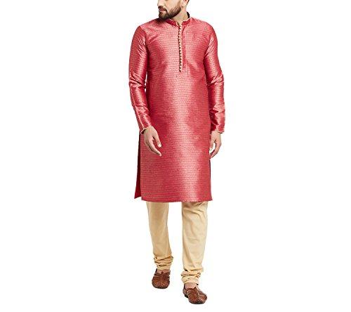 Sojanya (Since 1958) Men's Premium Jacquard Silk Kurta & Churidaar Pyjama