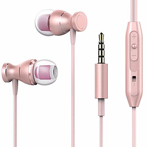 Interesting impermeabile magnetica auricolare Stereo microfono per Samsung A3, A5, A7 2017 - oro rosa