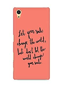 AMEZ let your smile change the world Back Cover For Sony Xperia Z5