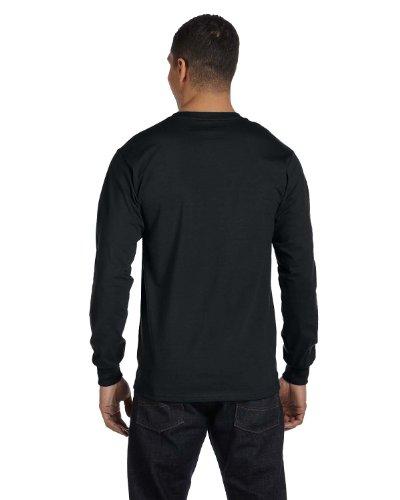 Hanes Tagless Long-Sleeve T-Shirt 1 Ash + 1 Black