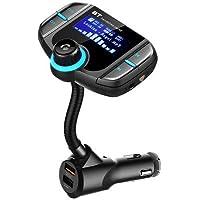 ExcLent Bt70 Transmisor Inalámbrico De FM para Cargador De Automóvil con Bluetooth - Negro