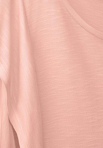Street One Damen Uni Shirt mit Volant-Ärmeln lucky peach (orange)