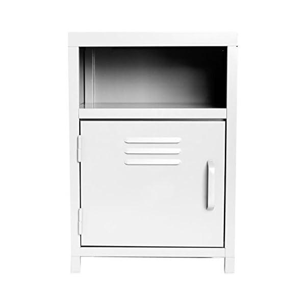 Meuble de chevet 1 porte + 1 niche - Esprit industriel, Atelier ... 1e04bbf256f