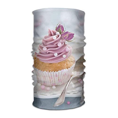 Multifunctional Headwear Dessert Cupcake Headband Fashion Headscarf Sweatband for Outdoor 19.7x9.85(Inch)/50x25(cm) Grecian Dessert