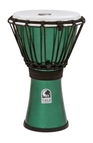 TOCA TFCDJ-7MG 7-Inch Freestyle Colorsound Djembe - Metallic Green