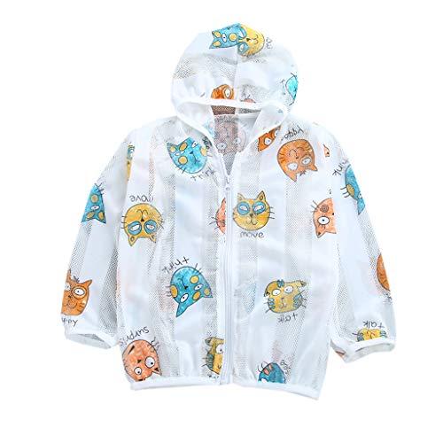 iHAZA Sommer Kleinkind Sonnenschutz Mäntel Baby Mädchen Mit Kapuze Oberbekleidung Zip Jacken Asos Zip