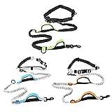 Nosii Hands Free Dog Leash Reflective Verstellbarer Hüftgurt für Laufen Walking Wandern (Color : Black Green)