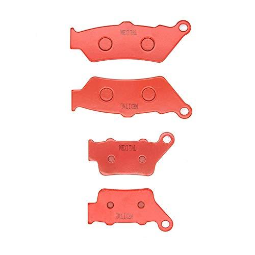 MEXITAL Pastiglie freno Ceramica organico Anteriori + Posteriore per NX 500 NX 650 Dominator (97-99) / CB 500 (97-03) / SRL 650 V/W (97-98) / FX 650 Vigor (99-03)
