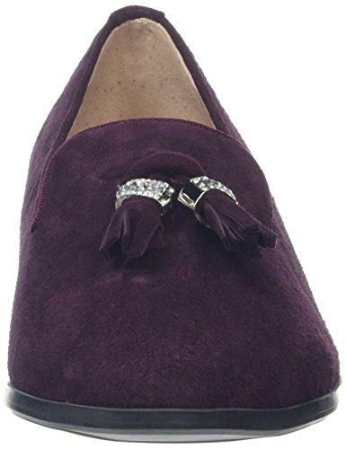 Moda in Pelle Enolie, Mocassins Femme Violet (Burgundy)