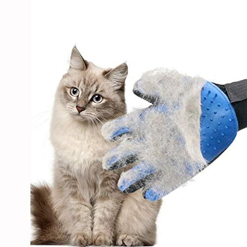 ZXL Doppelseitige Haustier-Reinigungs-Handschuhe, Hundekamm-Katzen-Haar-Abbau-Bürsten-Vakuumbad-Schönheits-Massage-weiches Silikon-Handschutz-Haustier-Versorgungsmaterialien (Entwurf: B) -