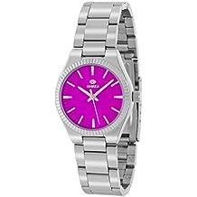 Reloj Marea Mujer B21169/4 Plateado y Rosa Fucsia