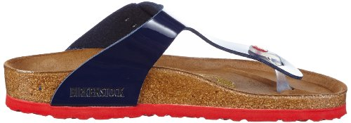 Birkenstock Gizeh, Tongs Bleu (Vernis Dress Blue/Ls Red)