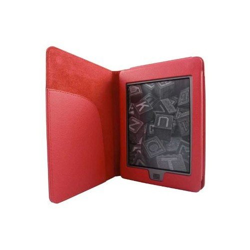 Ultra ligero – Carcasa para Amazon Kindle Touch y Touch 3 G Funda Case Rojo