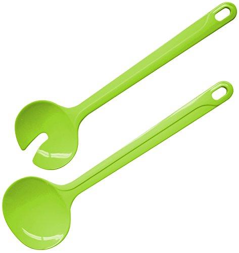 Fackelmann 27075 Salatbesteck, Kunststoff, grün