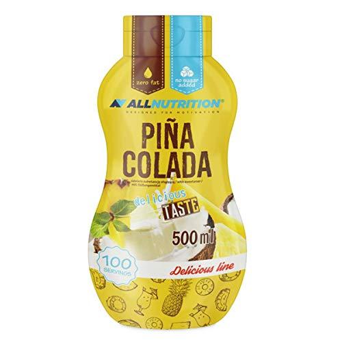 ALLNUTRITION Sauce Sirup Weniger Fett Zucker als herkömmlicher Sirup 500ml (Pina Colada) - Pina-colada-joghurt