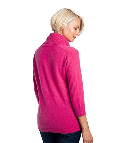 WoolOvers Pull à col boule - Femme - Cachemire & Mérinos Rich Rose