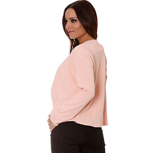 Miss Wear Line–Blazer rosa solapa drapés. chaqueta para mujer Fashion Rosa rosa