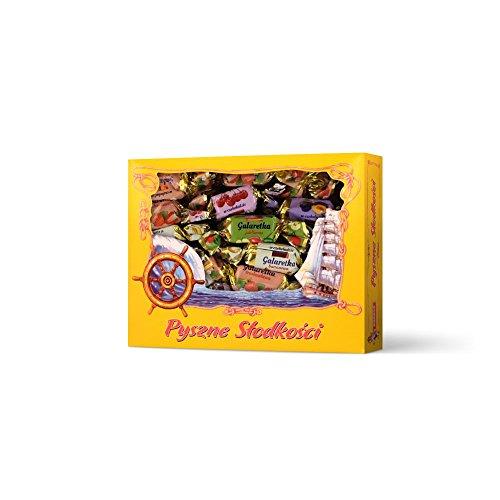 Dobosz Polnische Süßigkeiten Schokopralinen,Pralinen, Bonbons,Party-Mix,Schokolade (Kirsche,Ananas,Banane,Pflaumengeschmack)