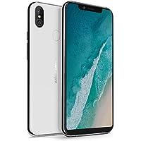 Ulefone X Smartphone 4G (2018) Android 8.1, 5.85 HD + 18: 9, 3300mAh con carica Qi, Octa-Core, 4G + 64G, telecamera posteriore doppia + fotocamera frontale da 13 MP, ID dito, Dual Nano SIM(Bianco)