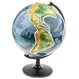 MagiDeal Topographie Erdkruste Globus Querschnitt Modell Geographie Wissenschafts Lernspielzeug für Kinder