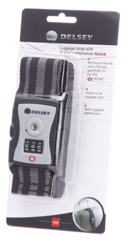 Delsey Pearl Grey 3-Digit Combination Luggage Strap Lock (00094509111)