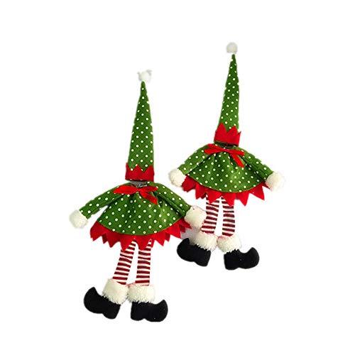Xuthuly Neue Tupfen-Wein-Flaschen-Abdeckungs-Taschen für Weihnachtsdekoration (Wein Flaschen Damen Kleid Kostüm)