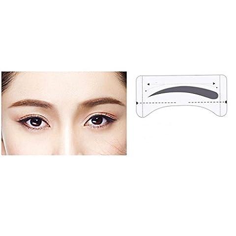 Bobury 8 paires de toilettage façonner les modèles de sourcils autocollants Stencils sourcils dessin de la