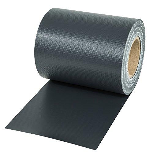tectake Rouleau 19cm Brise-Vue Pare-Vent pour clôture PVC + Comprend des Clips de Montage - diverses modèles - (70m | Anthracite | no. 401874)