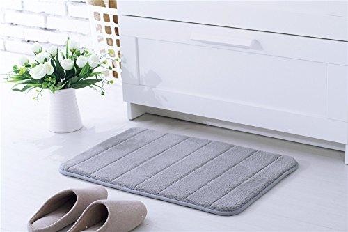 Kemai in microfibra super assorbente acqua domestici bagno antiscivolo tappetino da bagno Set con memory foam Grey