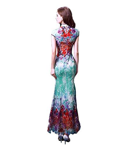 Drasawee - Robe - Moulante - Femme Multicolore
