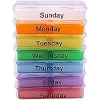 Morza Medizin-Speicher-Pille 7 Day Sorter Box Container Case Large Weekly Medizin Organizer preisvergleich bei billige-tabletten.eu