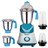 Sunmeet Blue Color 1000Watts Mixer Grinder with 2 Bullet Jar plus 3 steel 2019 But-Bl