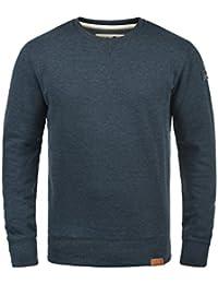 SOLID Trip Herren Sweatshirt Pullover Sweater mit Rundhals-Ausschnitt aus hochwertiger Baumwollmischung Meliert