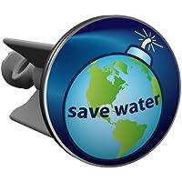 Plopp bonde Save Water, pour lavabo, bonde, bonde Excenter, déversoir