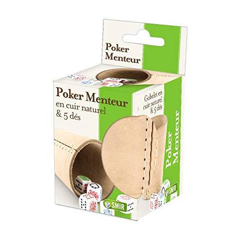 Poker Menteur : Gobelet Cuir + 5 Dés de Poker