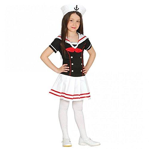 r Mädchen Matrosenkleid Mädchenkostüm Sailor Girl Seemann Gr. 110-146, Größe:128/134 (Sailor Girl Kostüm Zubehör)